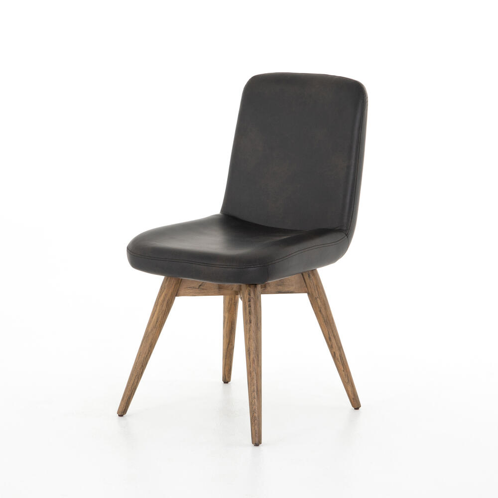 Distressed Black Cover Giada Desk Chair