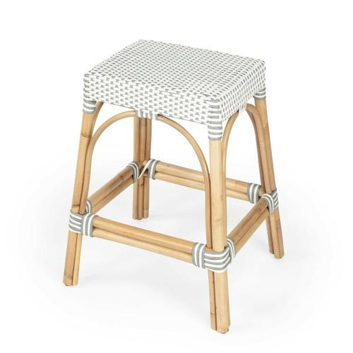 Evoking images of sidewalk tables in the Cote d'Azur, counter stools like this will give your kitchen, dining area, or covered patio the casual sophistication of a Mediterranean coastal bistro. Expertly crafted from thick bent rattan for superb durability, it features weather resistant woven plastic in a choice of colors to complement your space. This backless rectangular counter stool is lightweight for easy mobility with comfort to make the space it's in a frequent gathering place.
