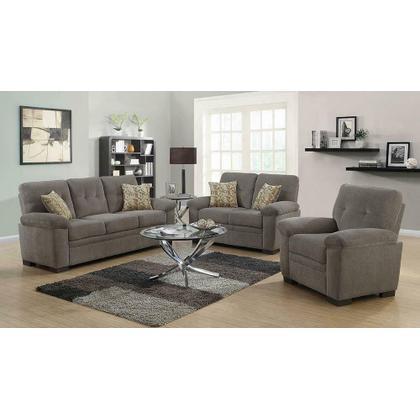 See Details - Fairbairn Casual Brown Three-piece Living Room Set