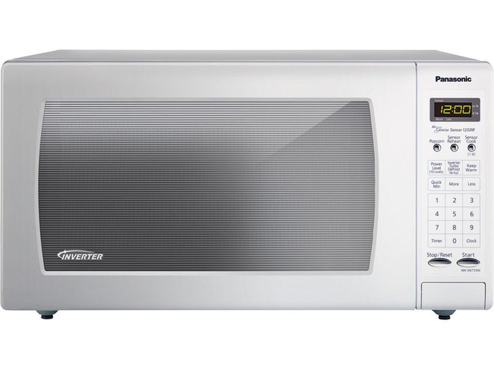 PanasonicFull-Size 1.6 Cu. Ft. Countertop Microwave Oven With Inverter Technology, White Nn-Sn733w