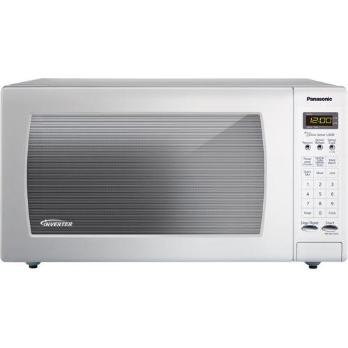 Full-Size 1.6 cu. ft. Countertop Microwave Oven with Inverter Technology, White NN-SN733W