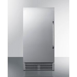"Summit15"" Wide 50 Lb. ADA Compliant Commercially Listed Clear Icemaker With Automatic Defrost, Internal Pump, and Complete Stainless Steel Exterior"