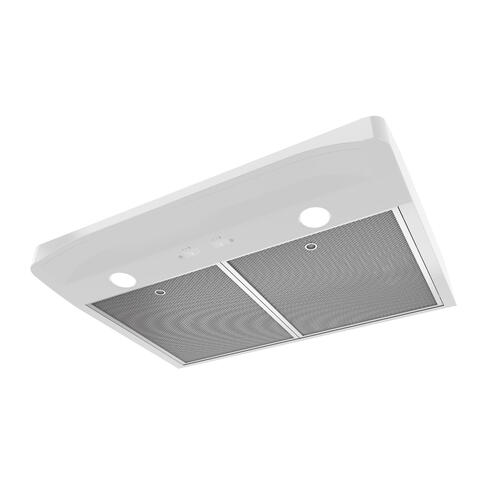 Broan® Elite 30-Inch Convertible Under-Cabinet Range Hood, White