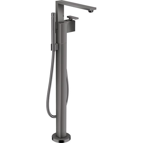 AXOR - Polished Black Chrome Freestanding Tub Filler Trim with 1.75 GPM Handshower - Diamond Cut