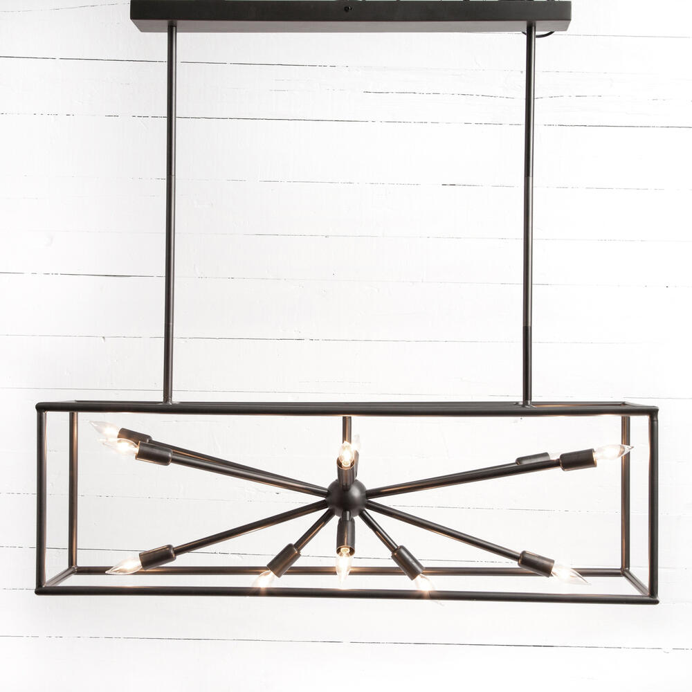 Jaxon Rectangular Chandelier-dark Antiqu