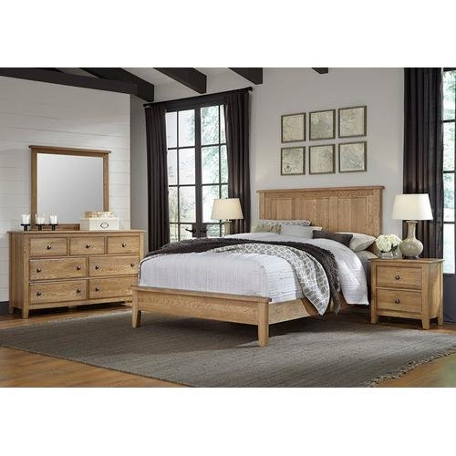 King Panel Bed with Low Profile Footboard