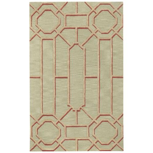 Fretwork Putty Hand Tufted Rugs