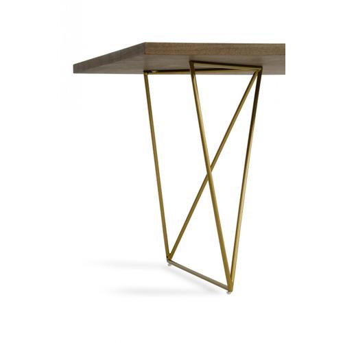VIG Furniture - Modrest Marcia Modern Tobacco & Antique Brass Dining Table