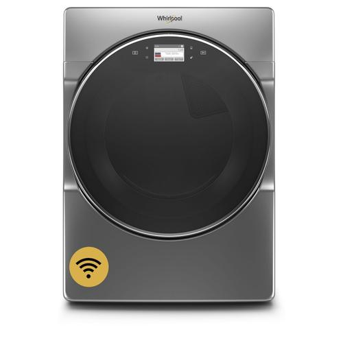 Gallery - 7.4 cu. ft. Smart Front Load Electric Dryer Chrome Shadow