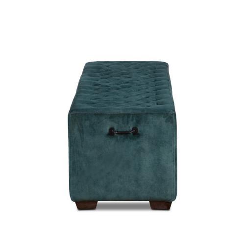 """D'Orsay 58"""" Upholstered Green Velvet Bench"""