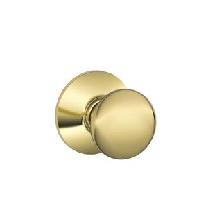 Plymouth Knob Hall & Closet Lock - Bright Brass Product Image