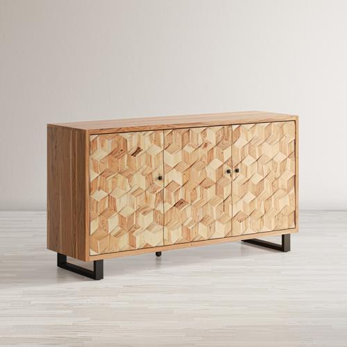 Jofran - Geometrix 3 Door Accent Cabinet