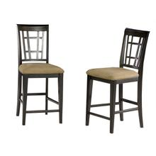 Product Image - Montego Bay Pub Chairs Set of 2 with Cappuccino Cushion in Espresso