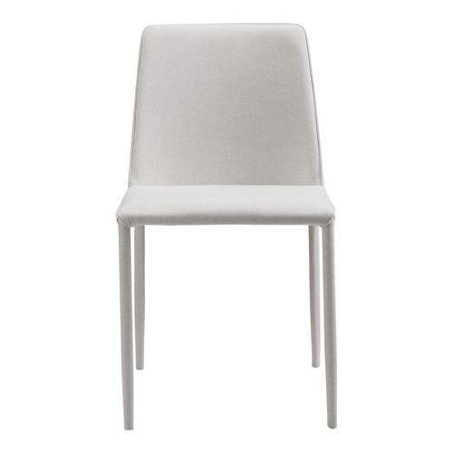 Moe's Home Collection - Nora Fabric Dining Chair White-m2