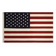 """View Product - 60""""L x 36""""H Cotton Fabric Americana Flag w/ Grommets"""