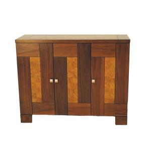 All Wood Furniture - Walnut & Ash Burl Veneer Server