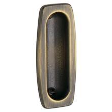 Satin Brass and Black Flush Pull