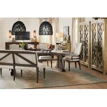 Roslyn County Trestle Dining Table, 2 Host Chairs and 2 Side Chairs