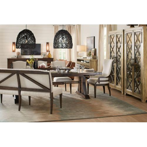 Dining Room Roslyn County Trestle Dining Table Base