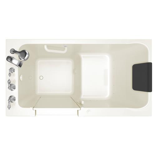 American Standard - Acrylic Luxury Series 32x60 Air Bath Walk-in Tub with Tub Filler, Left Drain  American Standard - Linen