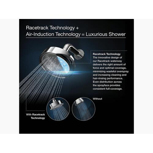 Polished Chrome 1.5 Gpm Multifunction Handshower With Katalyst Air-induction Technology