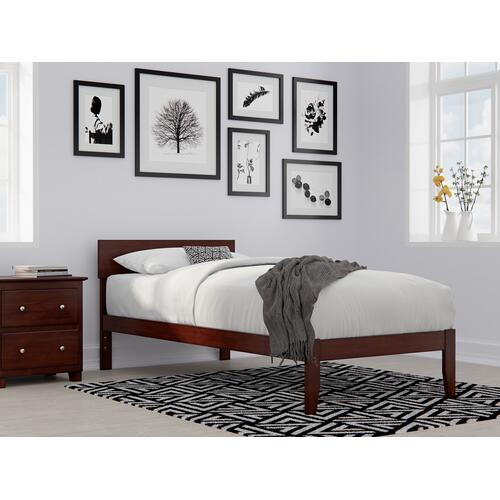 Boston Twin Extra Long Bed in Walnut