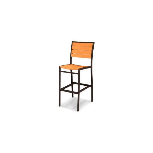 Polywood Furnishings - Eurou2122 Bar Side Chair in Textured Bronze / Tangerine