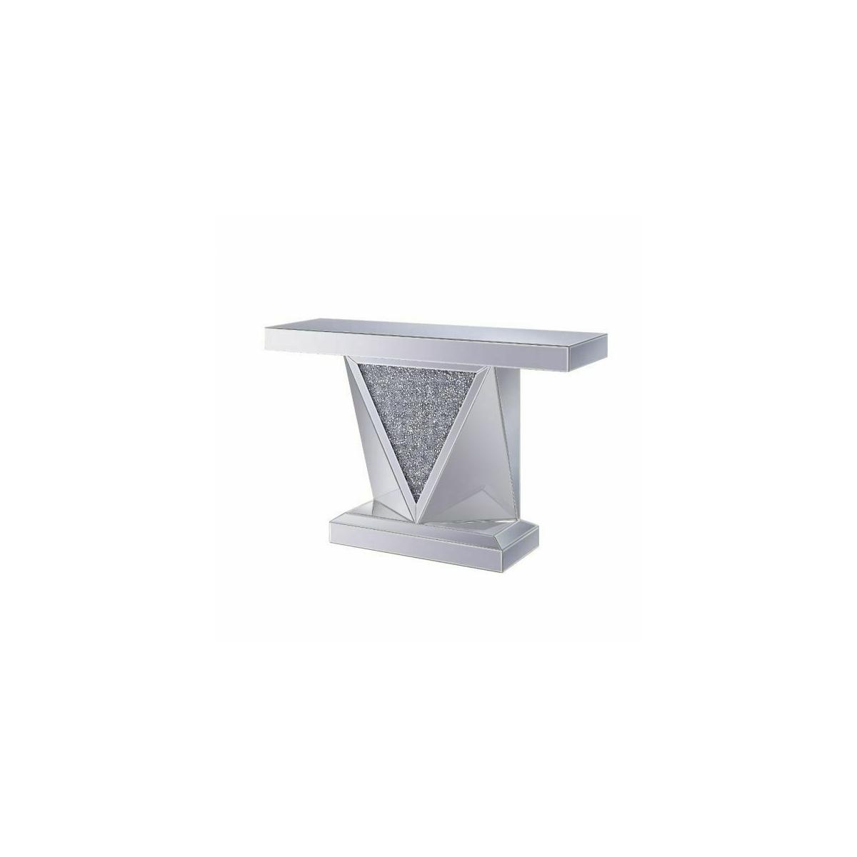 ACME Noralie Console Table - 90448 - Mirrored & Faux Diamonds