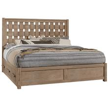 Queen - Basket Weave Bed with 2 Side Storage