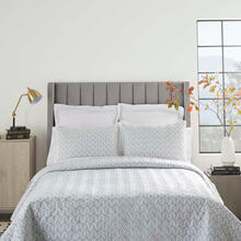 See Details - Dreamscape Dsq01 Grey Full/queen 3-piece Bed Set
