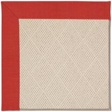 "Creative Concepts-White Wicker Dupione Crimson - Rectangle - 24"" x 36"""