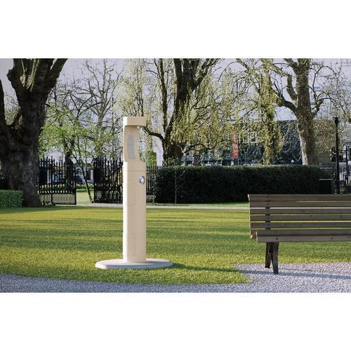 Elkay Outdoor EZH2O Bottle Filling Station Pedestal, Non-Filtered Non-Refrigerated Beige
