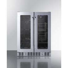"24"" Built-in Dual-zone Produce Refrigerator, ADA Compliant"