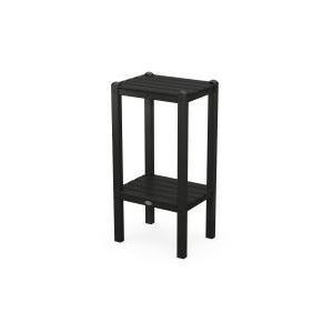 Polywood Furnishings - Two Shelf Bar Side Table in Black
