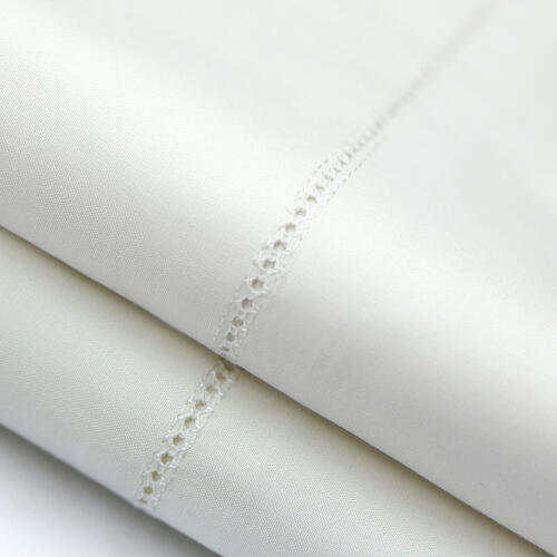 Italian Artisan Sheet Set Queen Pillowcase Ivory