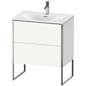 Vanity Unit Floorstanding, White Satin Matte (lacquer)