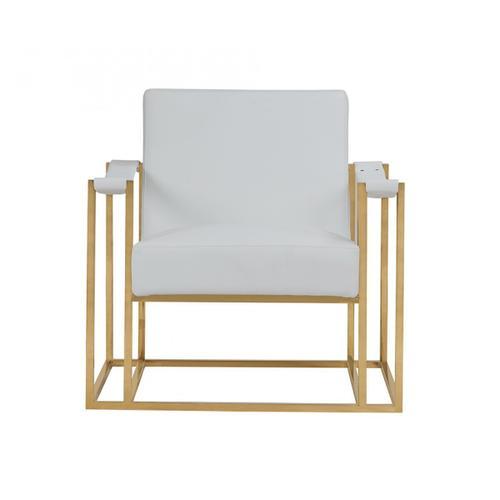 VIG Furniture - Modrest Larson Modern White Leatherette & Gold Accent Chair