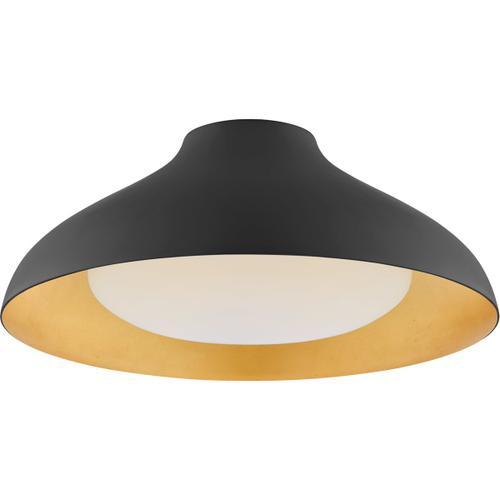 AERIN Agnes LED 18 inch Matte Black Flush Mount Ceiling Light