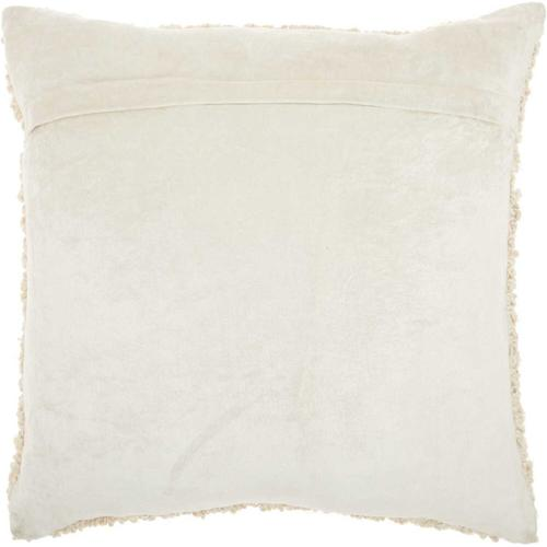 """Luminescence E1199 Ivory 18"""" X 18"""" Throw Pillow"""