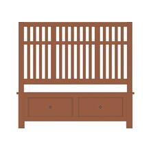 Slat Bed with Footboard Storage