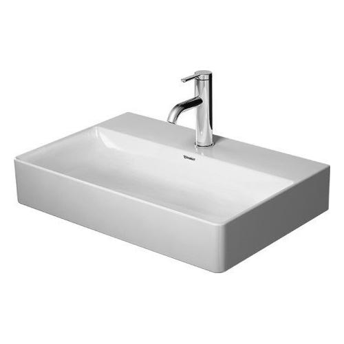Duravit - Durasquare Furniture Washbasin Compact 2 Faucet Holes Pre-marked With Large Distance Between Faucets