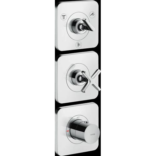 """Chrome Thermostatic Module Trim 15"""" x 5"""" for 3 Functions"""