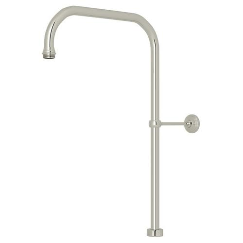 """Polished Nickel Perrin & Rowe 40"""" X 15"""" Rigid Riser Shower Outlet"""