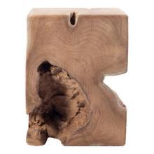 Natural Teak Wood End Table