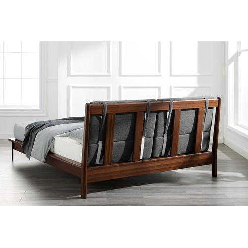 Greenington Fine Bamboo Furniture - Park Avenue King Platform Bed with Fabric, Ruby