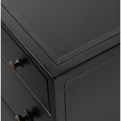 Black Finish Belmont Storage Nightstand