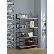 ACME Jodie Bookshelf - 92192 - Rustic Oak & Antique Black Product Image