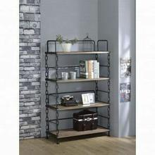 ACME Jodie Bookshelf - 92192 - Rustic Oak & Antique Black