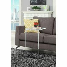 ACME Leotie Side Table - 80400 - Clear Acrylic & Chrome