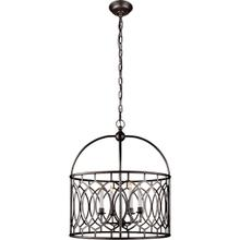 View Product - E. F. Chapman Marquise 6 Light 23 inch Aged Iron Foyer Pendant Ceiling Light